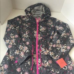 Women's NWT MOSSIMO Floral Rain Jacket Large